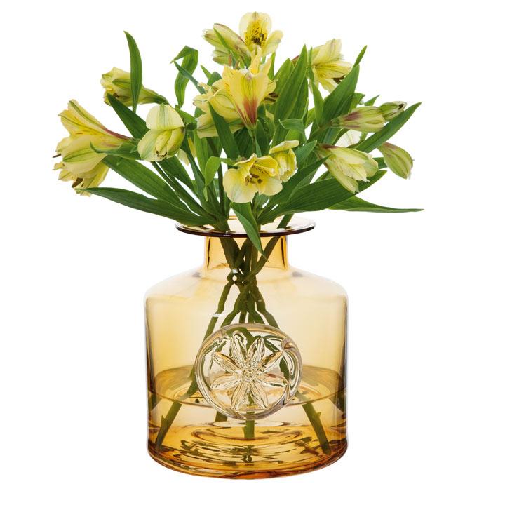 Flower Bottle - Amber