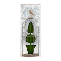 Flocked Wall Art - Topiary A