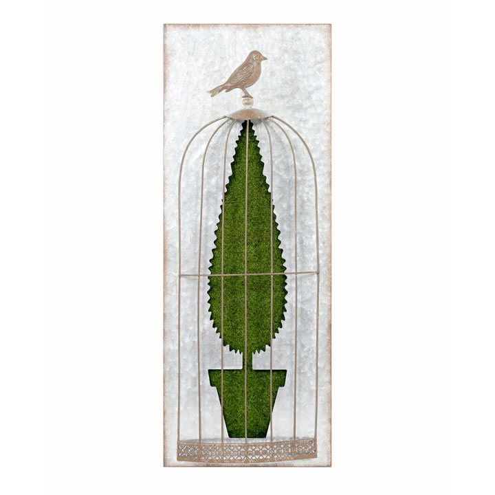 Flocked Wall Art - Topiary B