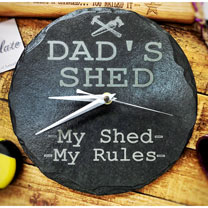 Dad's Slate Shed Clock