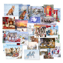 Blue Cross One of Each Christmas Card Pack