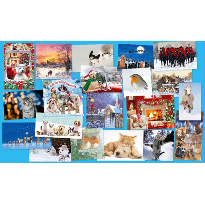 Blue Cross Bargain Christmas Card Pack
