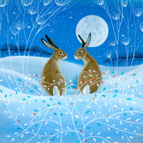 Moonlight Hares Cards