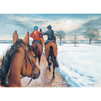 Peter O'Sullevan Charitable Trust Riding Home for Christmas Cards