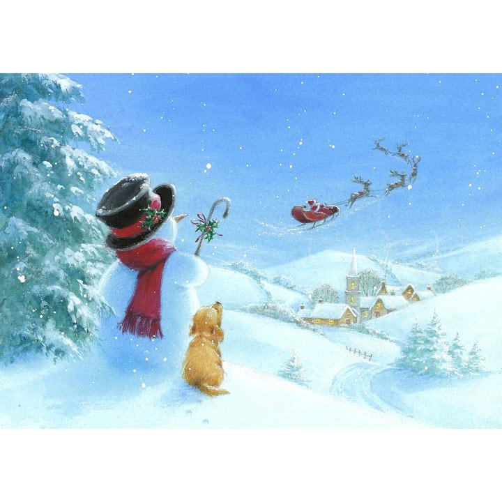 Santa's Here Cards
