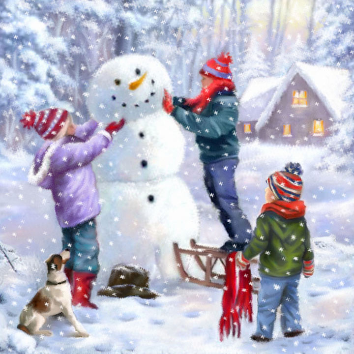 Building a Snowman Cards