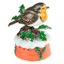 Robin Musical Box & Trinket Box