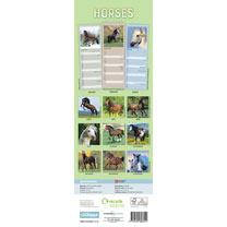 Slimline Calendar - Horses
