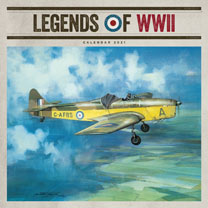 Wall Calendar - Legends of WWII