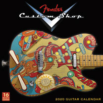 Fender Guitar Wall Calendar