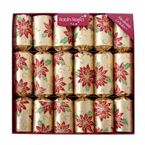 Gold Poinsettia Crackers