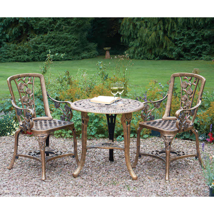 Rose Armchair Patio Set - Grey