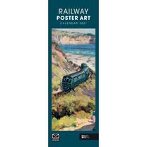 Slimline Calendar - Railway Poster Art