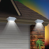 LED Solar Gutter Lights (2)