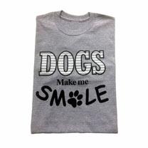 T-shirt Dogs Make Me Smile