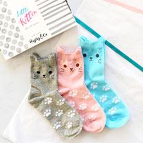 Cute Kitten Box of Socks
