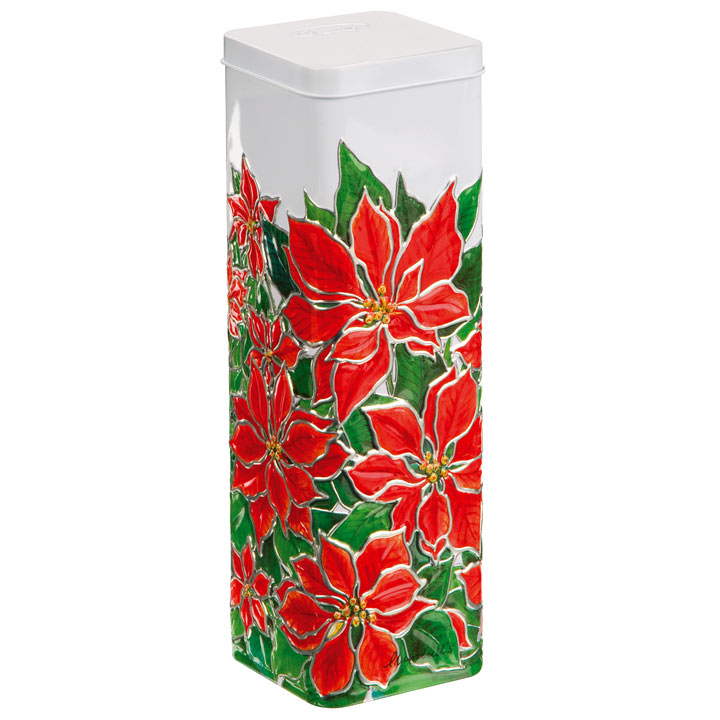 Poinsettia Tin