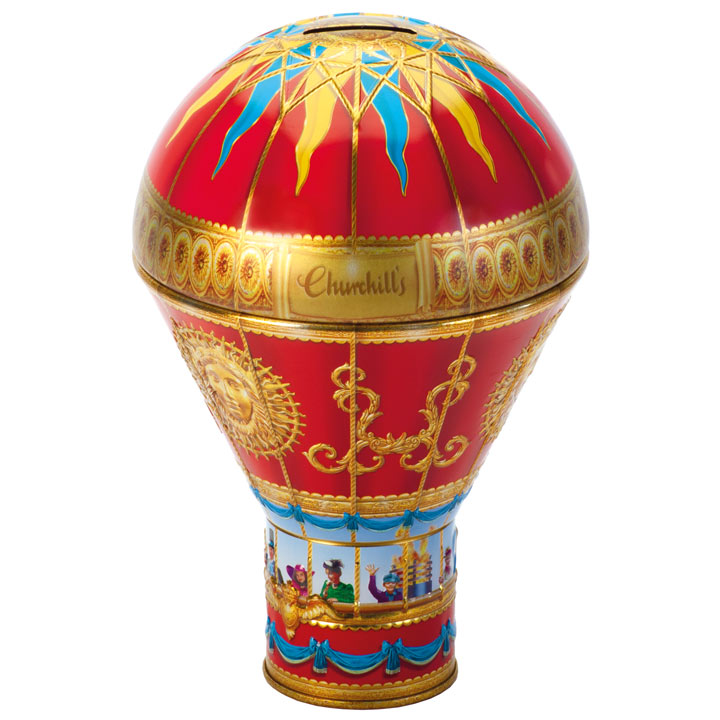 Red Hot Air Balloon Tin