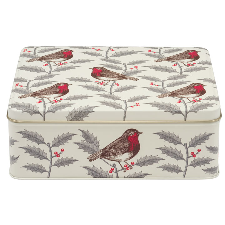 Robin Biscuit Tin & Tea Caddy