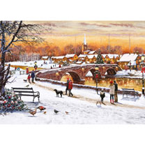 Winter Sunset Jigsaw