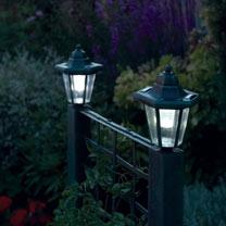 Trellis Planter with Solar Lanterns - Verdigris