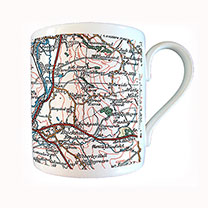 Show them the bigger picture with this map on a mug. A thoughtful and useful gift! Personalisation: Postcode. (Please note: To order more than one per