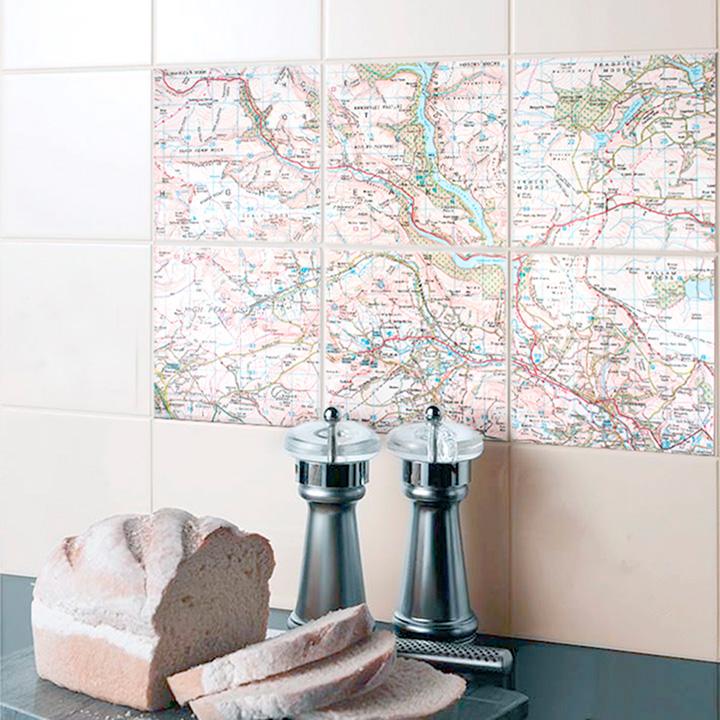Ceramic Map Tiles - Landranger 15 x 15cm