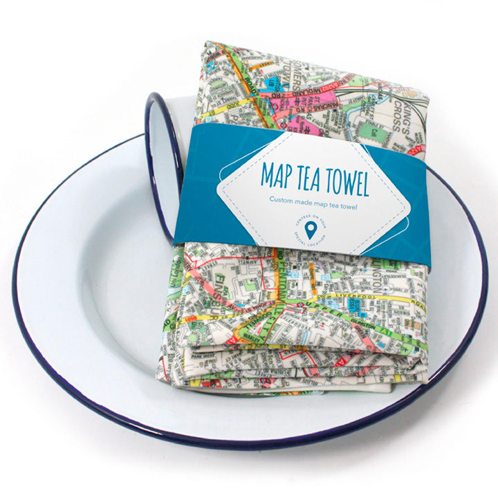 Personalised Map Tea Towel - London