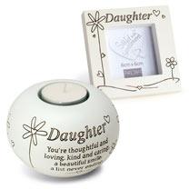 Daughter Frame & Tealight Gift Set