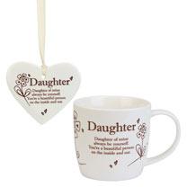 Ceramic Mug & Heart - Daughter