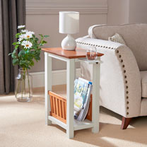 End Table & Magazine Rack