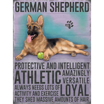 German Shepherd Metal Sign