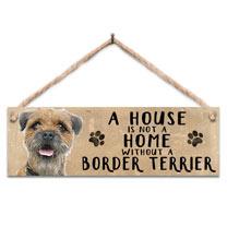 Border Terrier Home Wooden Sign