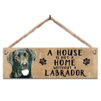 Black Labrador Home Wooden Sign