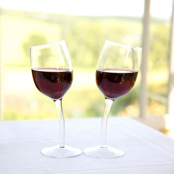 Pair of Wonky Wine Glasses
