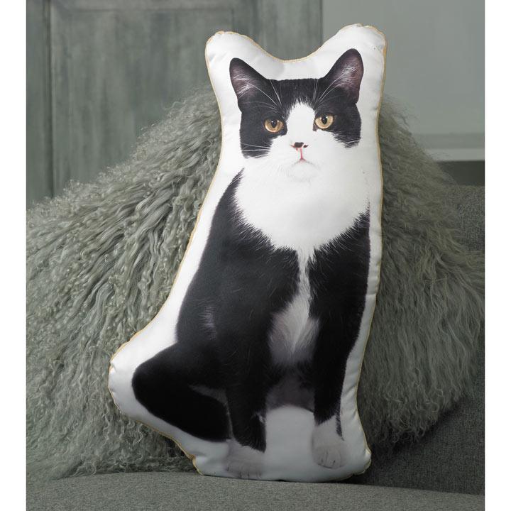 Cushion - Black & White Cat 49 x 27cm