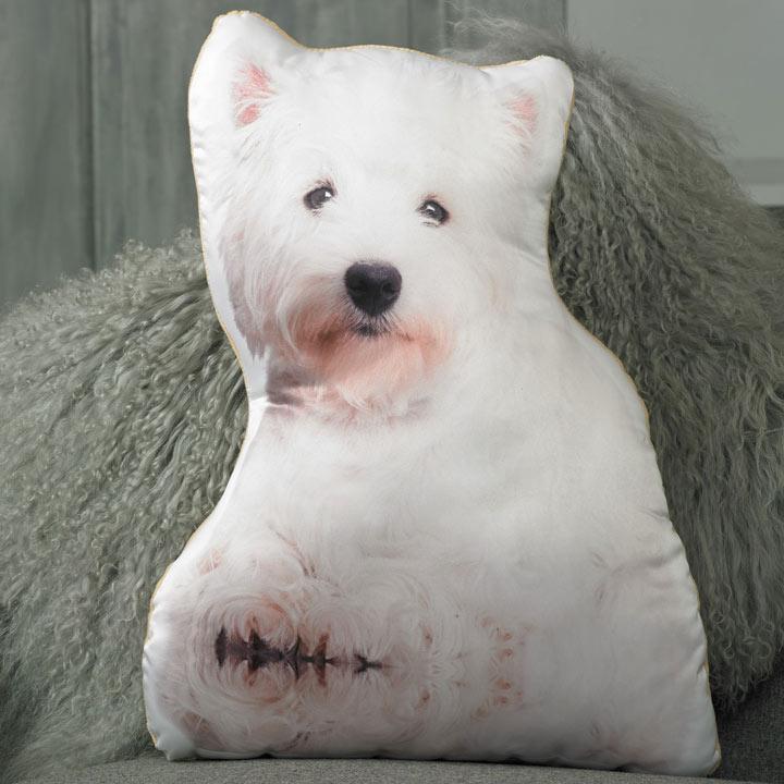 Dog Cushion - West Highland Terrier 47 x 36cm