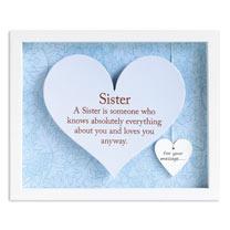 Sentiment Heart Frame - Sister