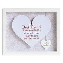 Sentiment Heart Frame - Best Friend