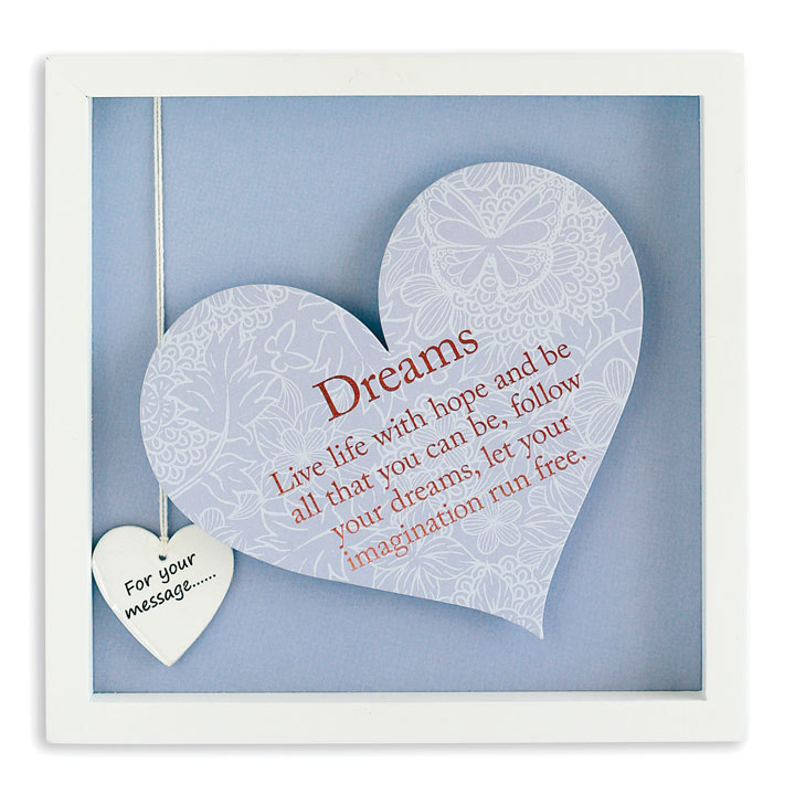 Sentiment Heart Frame - Dreams