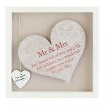 Sentiment Heart Frame - Mr & Mrs