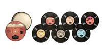 Tin of Record Coasters