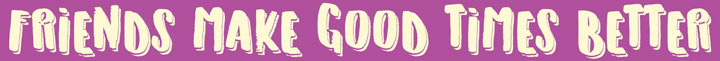 Good Times Wooden Sign - Purple