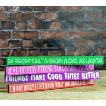 Stay Strong Wooden Sign - Pink