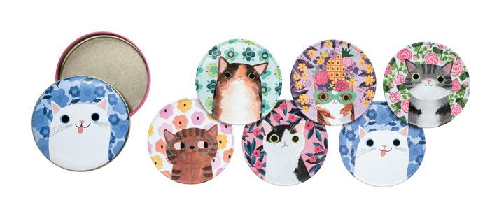 Cat Coasters Tin