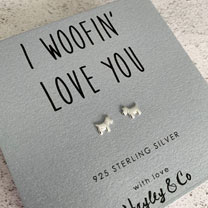 I Wuffin Love You Dog Earrings