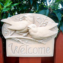 Welcome Birds Plaque