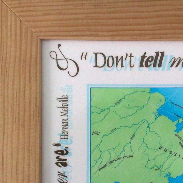 Personalised World Traveller Framed Map