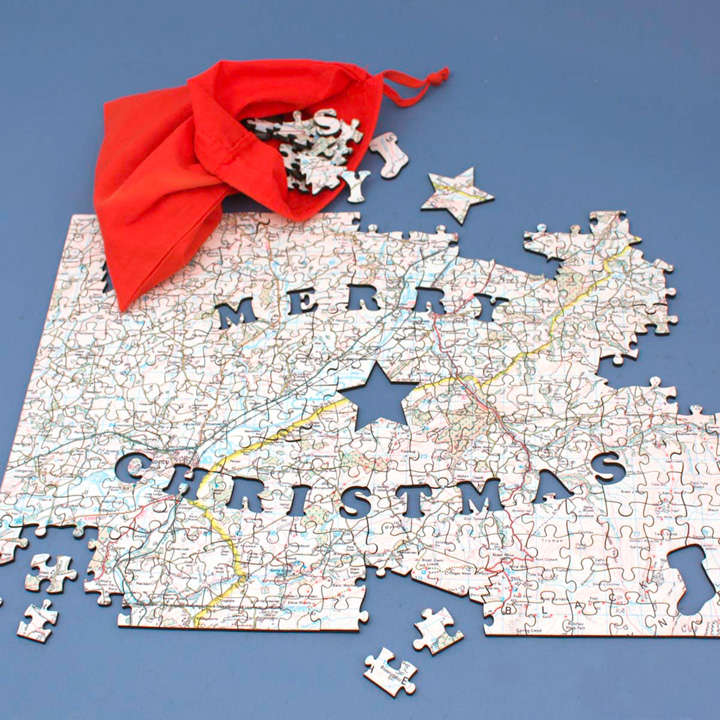 Personalised Ordnance Survey Jigsaw