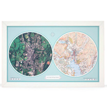 Personalised Double Up - Aero Carto Map